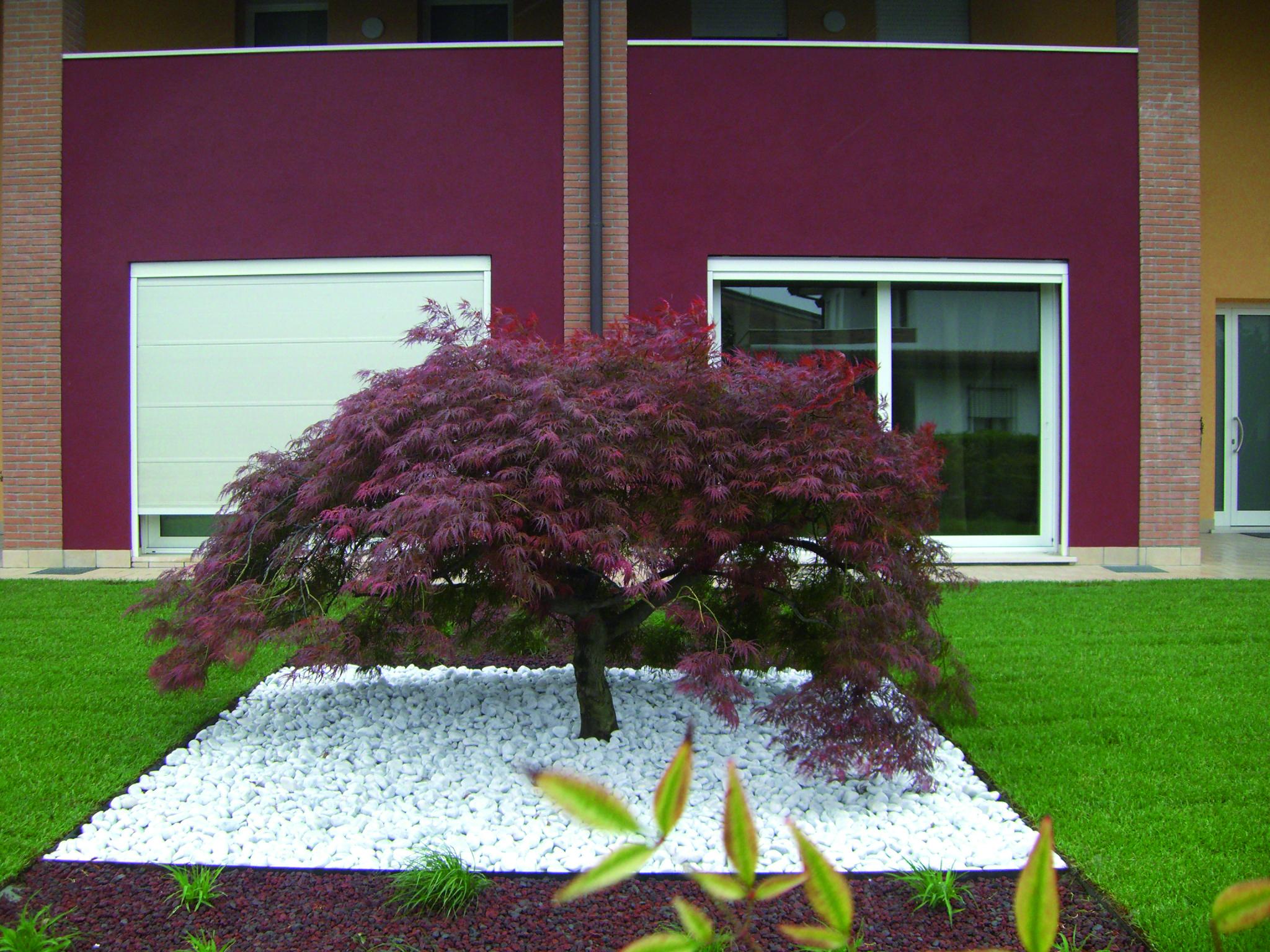 Aiuole con sassi bianchi cheap piantare i fiori with - Giardino con sassi bianchi ...