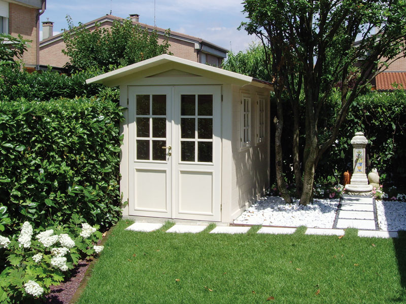 Salotti da giardino e fioriere su misura padova vicenza - Casetta in legno da giardino bianca ...